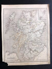 Chambers 1846 Antique Map. Scotland